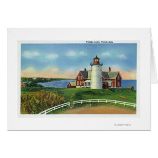 View of the Nobska Lighthouse Woods Hole Greeting Cards