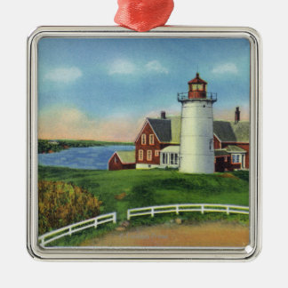 View of the Nobska Lighthouse Woods Hole Christmas Ornaments