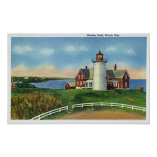 View of the Nobska Lighthouse Woods Hole Poster
