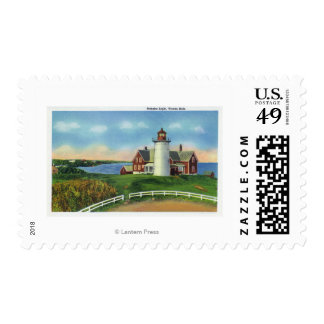 View of the Nobska Lighthouse, Woods Hole Stamp