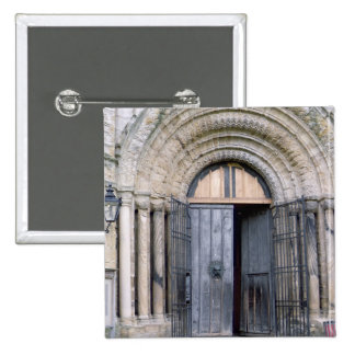 View of the North Door of Durham Cathedral 2 Inch Square Button