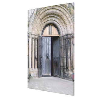 View of the North Door of Durham Cathedral Canvas Print