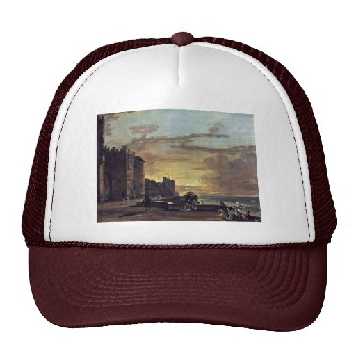View Of The North East Terrace Of Windsor Castle B Mesh Hat
