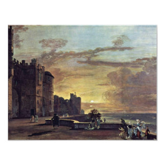 "View Of The North East Terrace Of Windsor Castle B 4.25"" X 5.5"" Invitation Card"