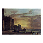 View Of The North East Terrace Of Windsor Castle B Print