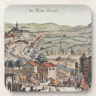 View of the north of Vienna with the Schlos Hernal Drink Coaster