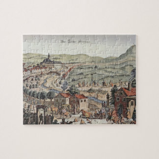 View of the north of Vienna with the Schlos Hernal Jigsaw Puzzle