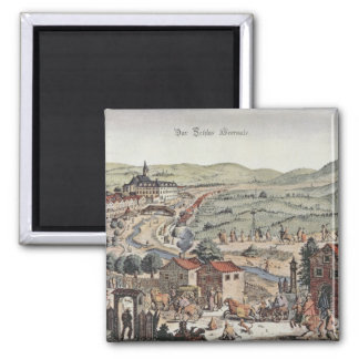 View of the north of Vienna with the Schlos Hernal Magnet