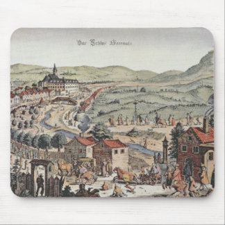 View of the north of Vienna with the Schlos Hernal Mouse Pad