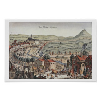 View of the north of Vienna with the Schlos Hernal Poster