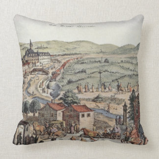 View of the north of Vienna with the Schlos Hernal Throw Pillow