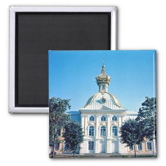 View of the North Pavilion 2 Inch Square Magnet