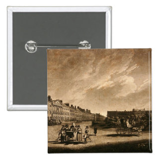 View of the north side of Grosvenor Square, 1789 Button