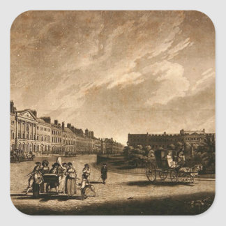 View of the north side of Grosvenor Square, 1789 Square Sticker