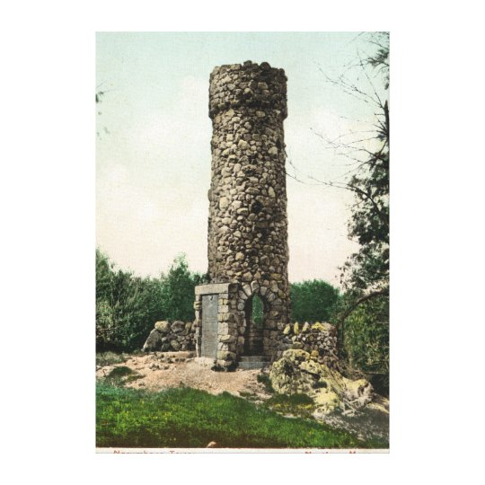 View of the Norumbega Tower Canvas Print