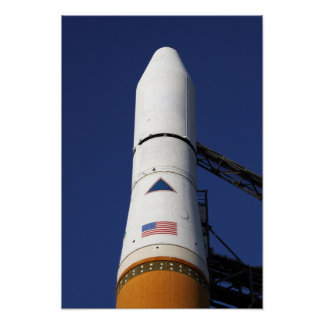 View of the nose cone of the Delta IV rocket Poster