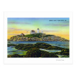 View of the Nubble Lighthouse at York Beach Postcards