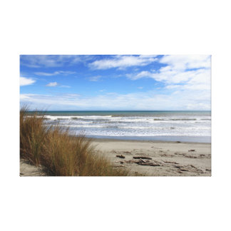 View of the ocean & beach from the dunes canvas print