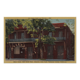 View of the Old Fallon Hotel & Theatre (1860) Poster