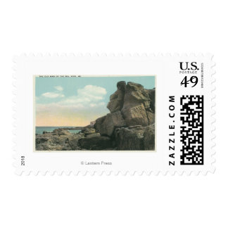 View of the Old Man of the Sea Rock Formation Postage