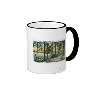 View of the Old Man Rock Formation Ringer Coffee Mug