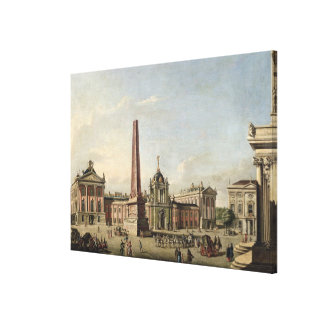 View of the Old Market Canvas Print