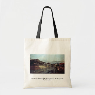 View Of The Old Moat Of The Dresden Zwinger Canvas Bag