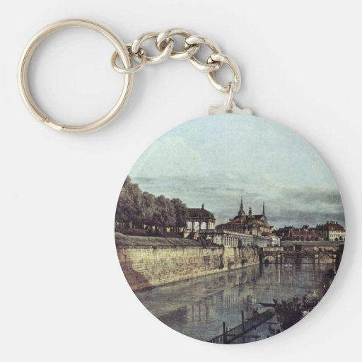 View Of The Old Moat Of The Dresden Zwinger Keychain