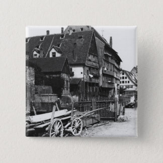 View of the Old Quarter, Ulm, c.1910 Pinback Button