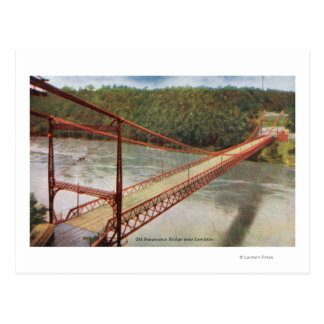 View of the Old Suspension Bridge Postcard