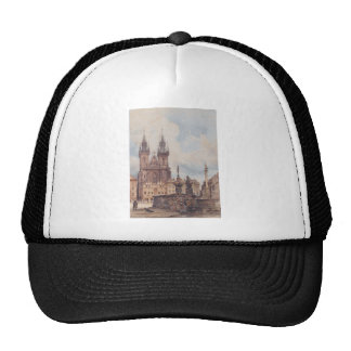 View of the Old Town Square with the Church Trucker Hat