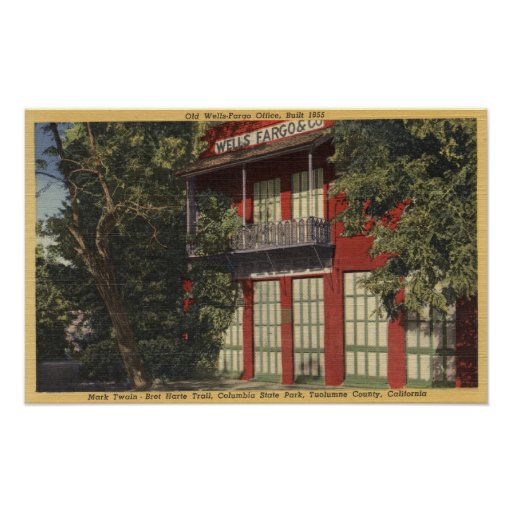 View of the Old Wells-Fargo Office (1855) Poster