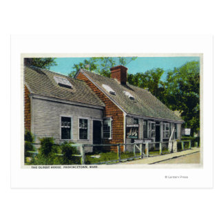 View of the Oldest House in Town Postcard
