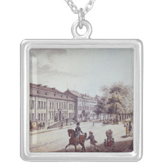 View of the Opera House, Berlin Silver Plated Necklace