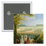 View of the Orangerie at Versailles, after 1697 Pinback Buttons
