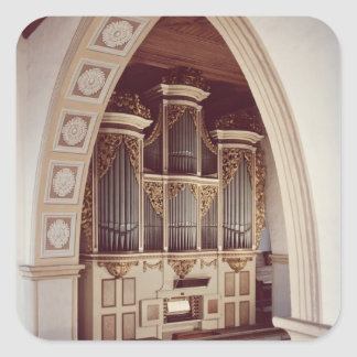 View of the Organ in the church at Rotha Square Sticker