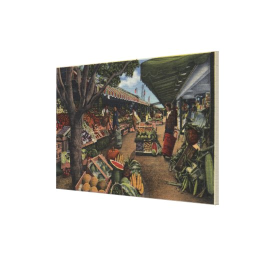 View of the Original Farmer's Market Stretched Canvas Print
