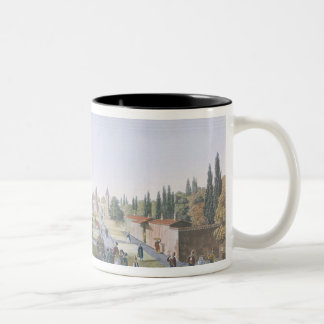 View of the Outer Courtyard of the Seraglio, Topka Two-Tone Coffee Mug