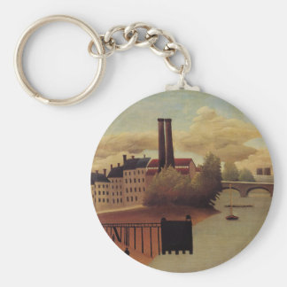 View of the Outskirts of Paris by Henri Rousseau Keychain