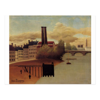 View of the Outskirts of Paris by Henri Rousseau Postcard