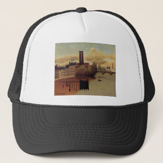 View of the Outskirts of Paris by Henri Rousseau Trucker Hat