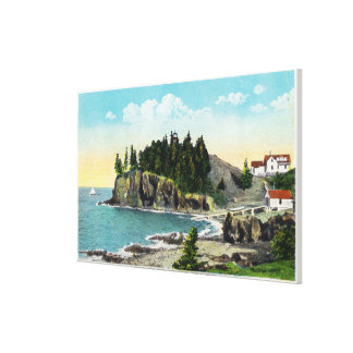View of the Owl's Head Lighthouse and Owl's Rock Canvas Print
