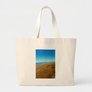 View of the Pacific Ocean from Table Bluff Large Tote Bag