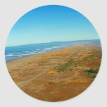 View of the Pacific Ocean from Table Bluff Round Sticker