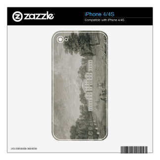 View of the Palace at Kew from the Lawn, engraved Decal For iPhone 4S