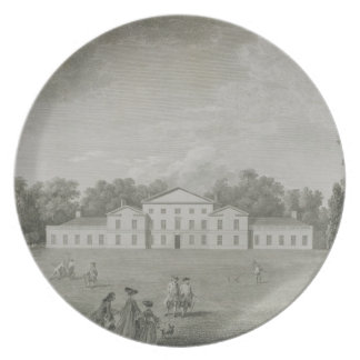 View of the Palace at Kew from the Lawn, engraved Dinner Plate