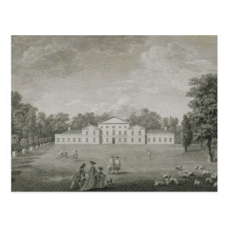 View of the Palace at Kew from the Lawn, engraved Postcard
