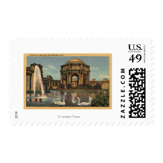 View of the Palace of Fine Arts Postage Stamp