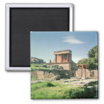 View of the Palace of Knossos 2 Inch Square Magnet