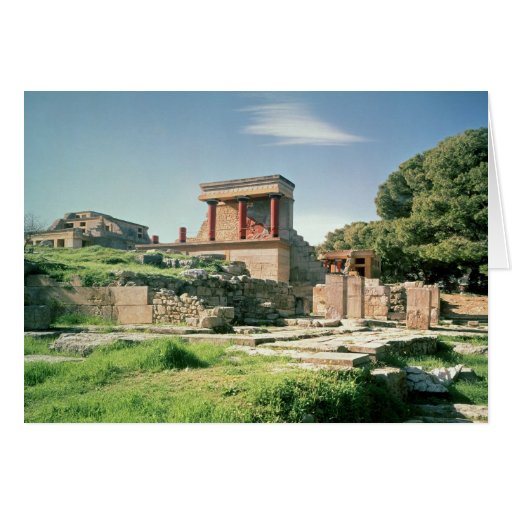 View of the Palace of Knossos Card